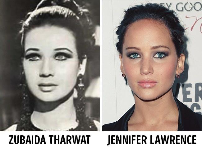 Zubaida Tharwat és Jennifer Lawrence