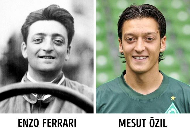 Enzo Ferrari és Mesut Özil
