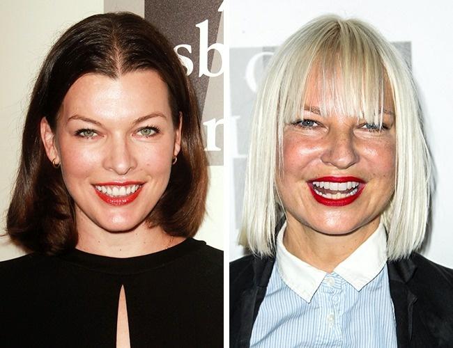 Milla Jovovich és Sia— 41évesek