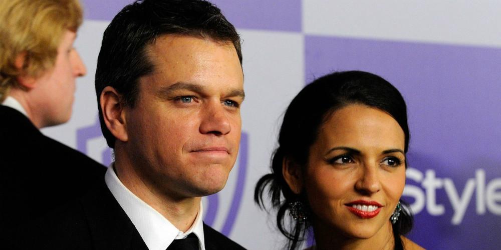 Luciana Barroso és Matt Damon