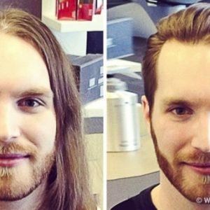 15 férfi, aki hihetetlenül jóképű lett a hajvágás után
