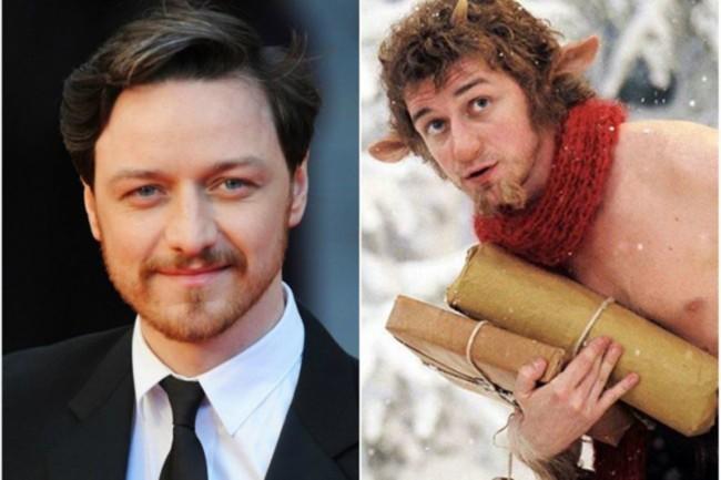 """James McAvoy–Mr. Tumnus faun""""Narnia krónikái: Az oroszlán, a boszorkány és a ruhásszekrény"""""""