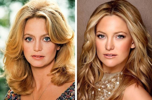 Goldie Hawn (35 évesen) és Kate Hudson (30évesen)