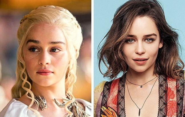 3)Trónok harca: Emilia Clarke (Daenerys Targaryen)