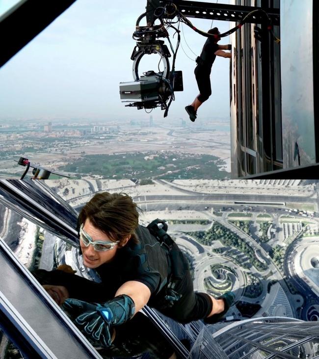 Tom Cruise tényleg megmászta a Burj Khalifa nevű épületet a Mission: Impossible – Fantom protokoll című filmben.