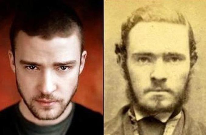 2. Justin Timberlake és egy ismeretlen férfi a múltból