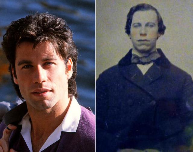 3. John Travolta és 1860-as hasonmása