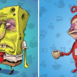 15 rajzfilmfigura a reggeli kávé előtt