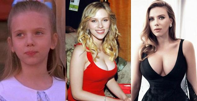 Scarlett Johansson így változott meg az évtizedek során