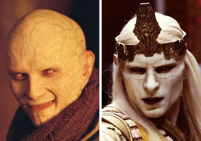4) Gulliermo del Toro rendezésével készült mind két filmben, Penge 2; Hellboy 2-Az aranyhadsereg, a fő gonoszt Luke Goss játszotta. Mind két karakter olyan mintha ugyan abból az univerzumból származna.
