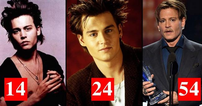 Johnny Depp így változott meg az évtizedek során