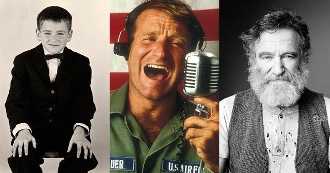 Robin Williams így változott meg az évtizedek során