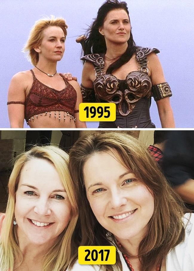 "1. Lucy Lawless és Renée O'Connor (""Xena: A harcos hercegnő"", 1995 és 2017)"