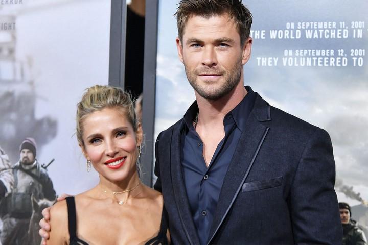 4) Chris Hemsworth (Thor) és felesége Elsa Pataky