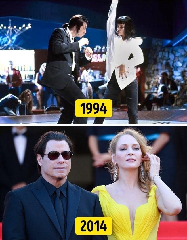 """4. Uma Thurman és John Travolta (""""Ponyvaregény"""", 1994 és 2014)"""