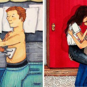 20 brutálisan őszinte illusztráció arról, hogyan változnak át idővel a párkapcsolatok