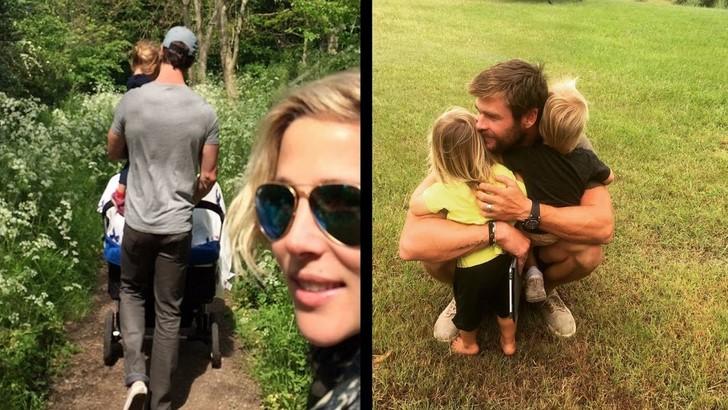 2. Chris Hemsworth (Thor) és felesége, Elsa Pataky