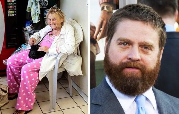 Zach Galifianakis és a hajléktalan nő