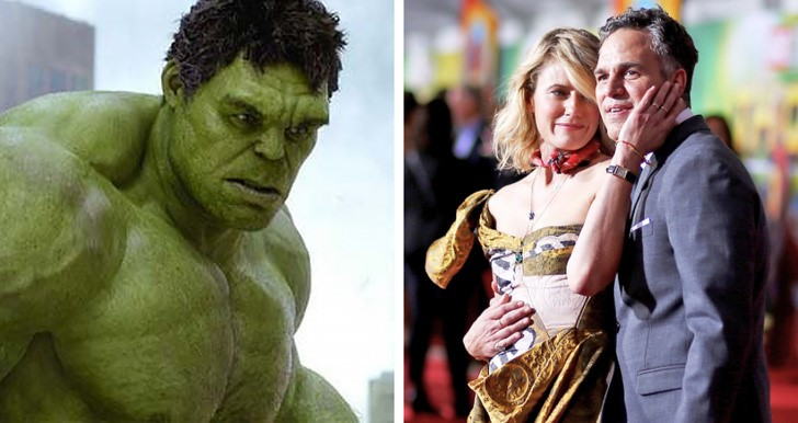 3. Mark Ruffalo (Hulk) és felesége, Sunrise Coigney