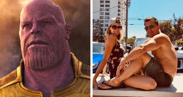 4. Josh Brolin (Thanos) feleségével, Kathryn Boyd-al
