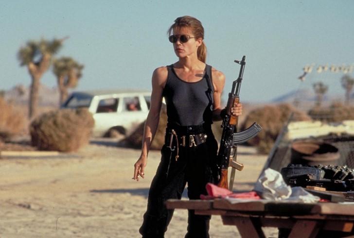 5)Linda Hamilton (Terminátor-filmek)