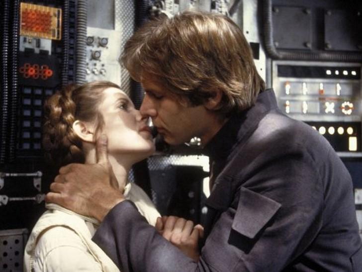 Carrie Fischer és Harrison Ford
