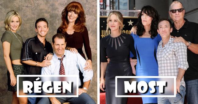 Híres filmek és sorozatok szereplői régen és most