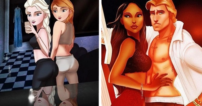 Így néznének ki a híres Disney karakterek napjainkban!